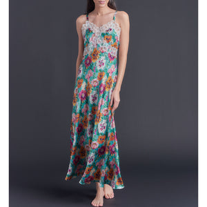 Marlayne Silk Charmeuse Slip in Poppy Liberty Print