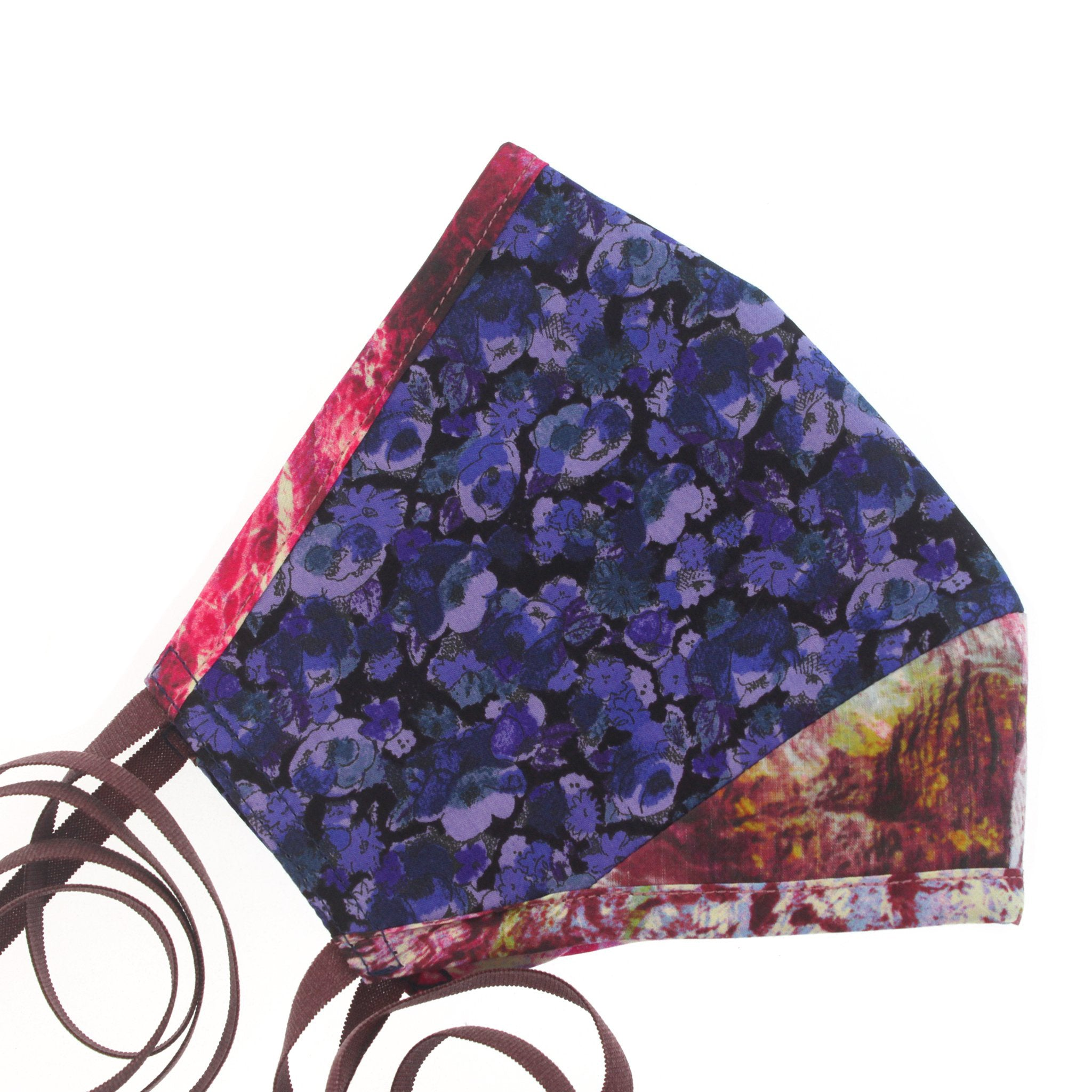 A Liberty Print Face Mask in Blue + Pink Floral Cotton
