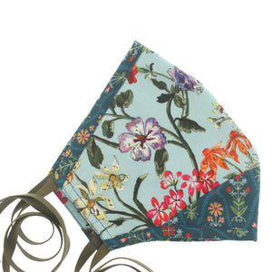A Liberty Print Face Mask in Turquoise Floral Cotton