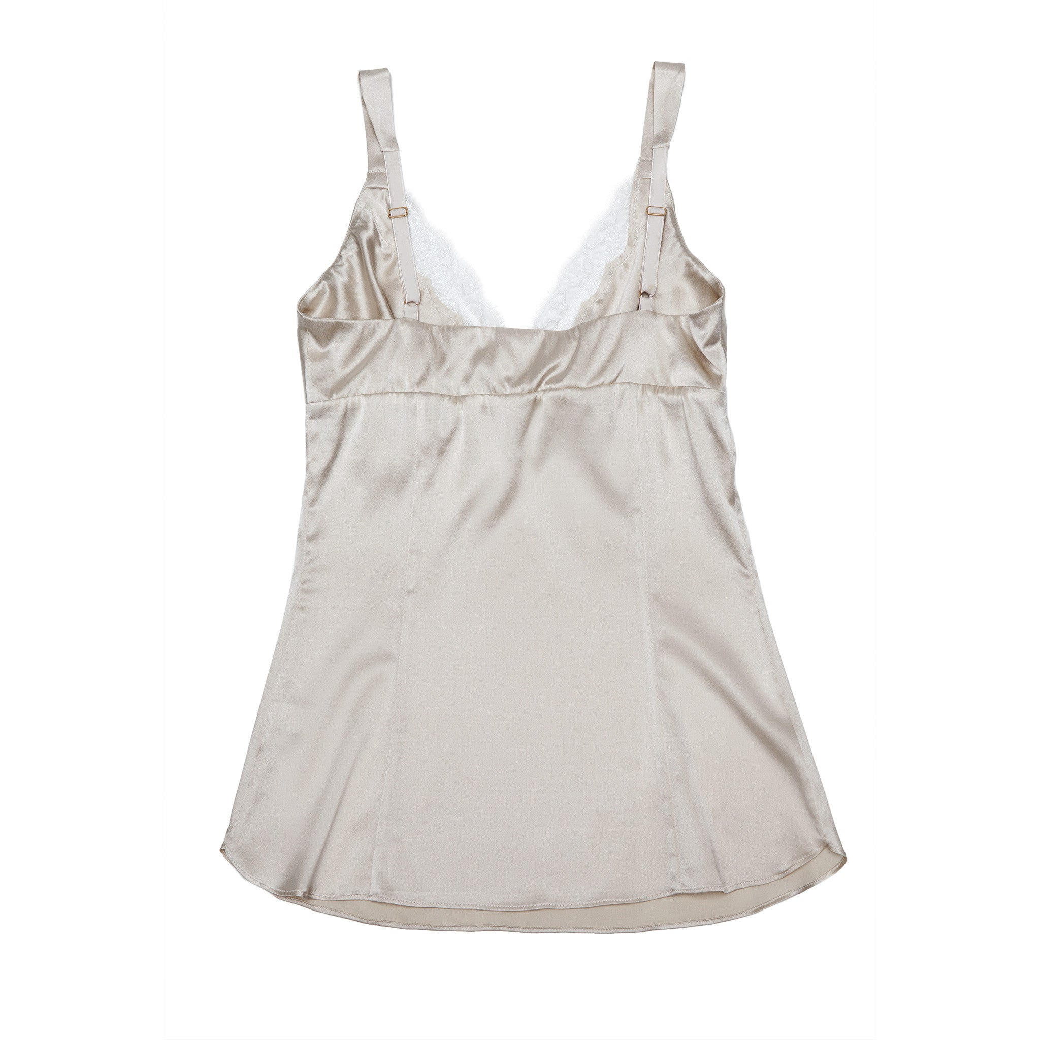 Minerva Camisole in Pearl Stretch Silk Charmeuse