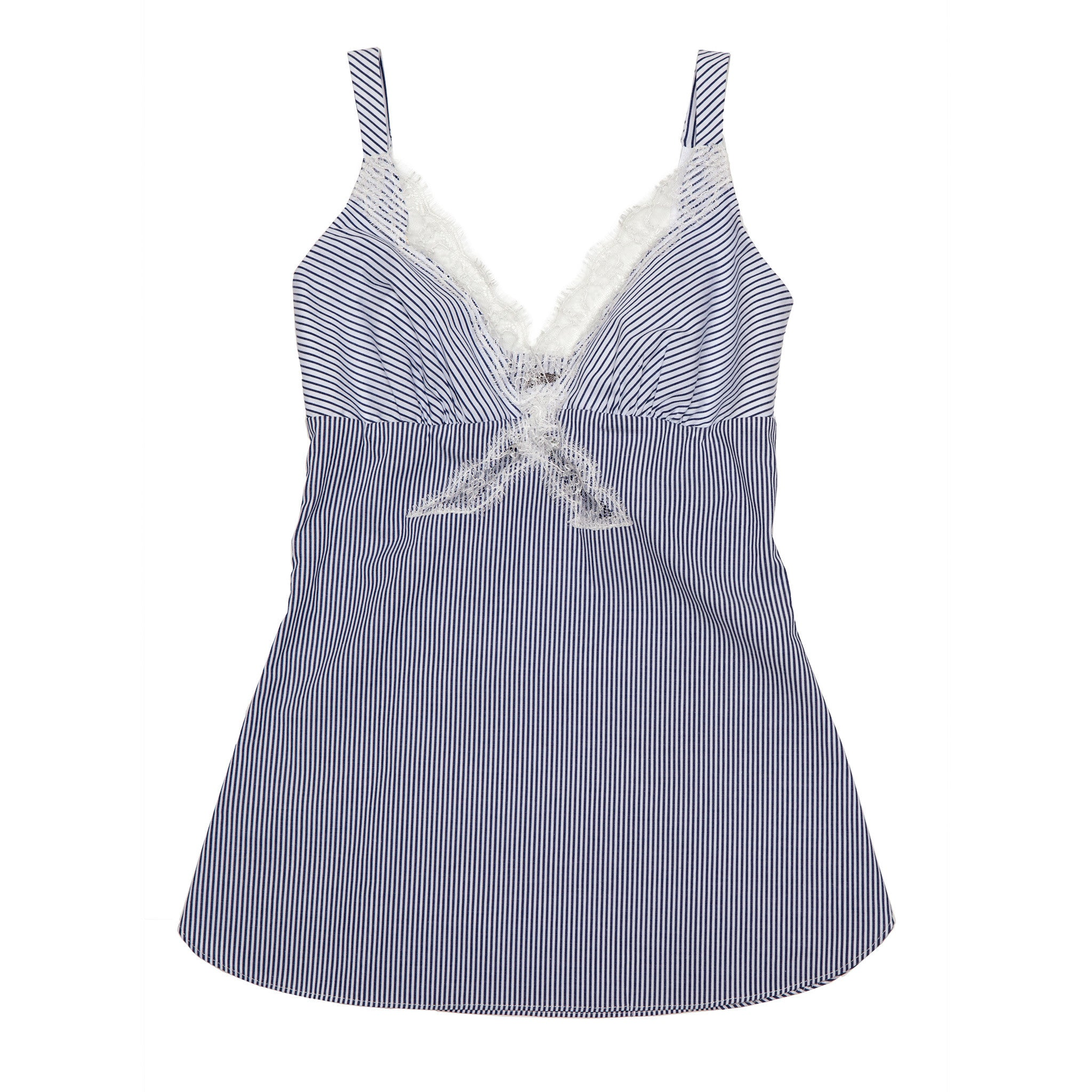 Minerva Camisole in Striped Stretch Cotton