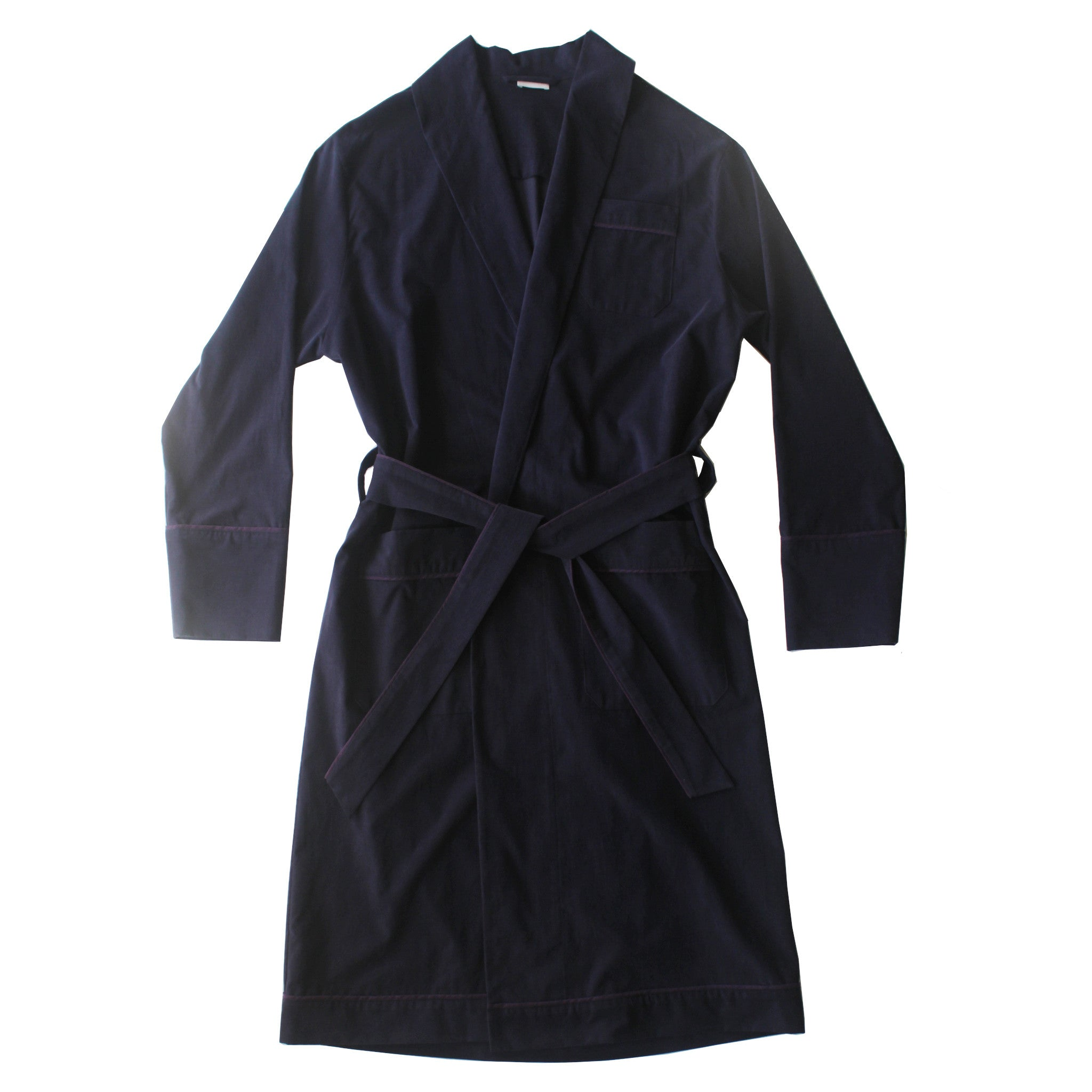 Janus Robe in Navy Italian Cotton Corduroy
