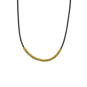 The Gold Tube Bead Necklace