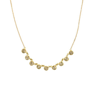 A Pavé Diamond Disc Necklace