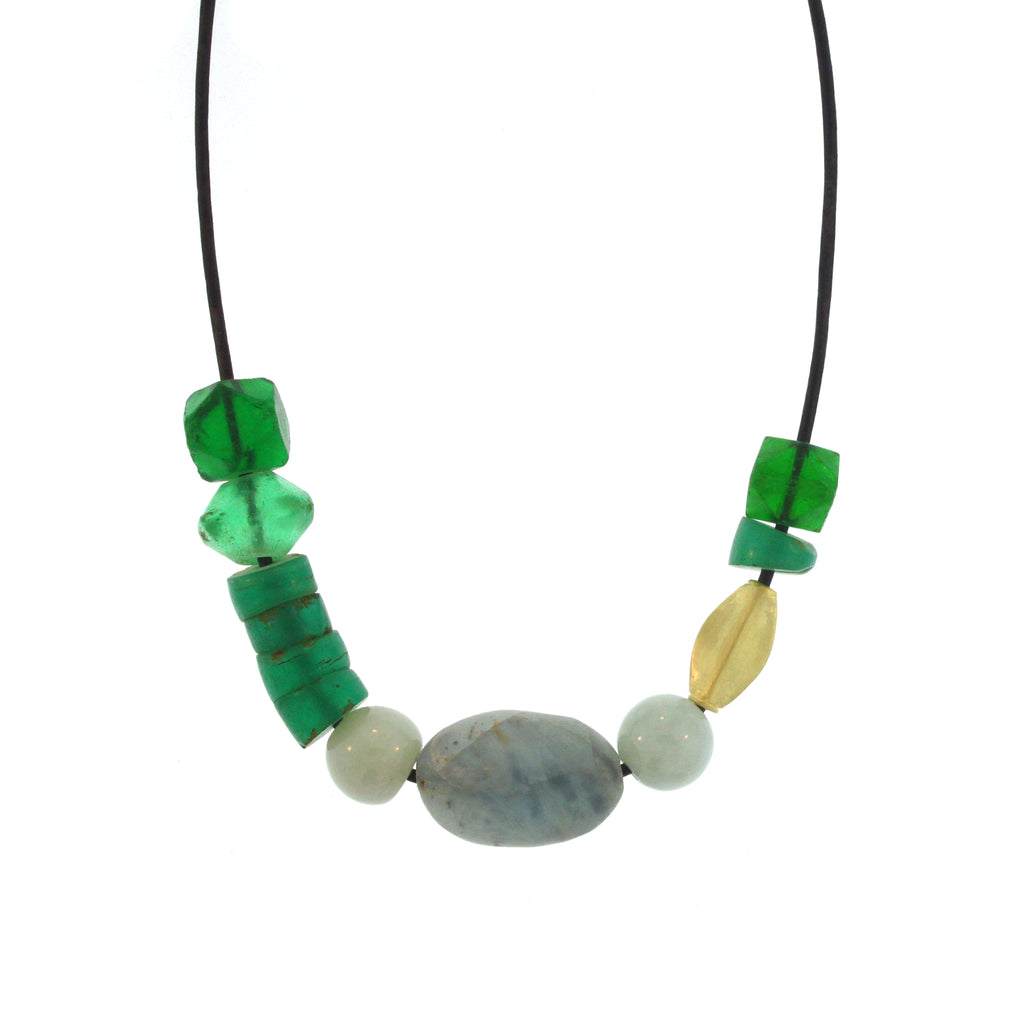 The Ancient Glass + Agate Bead Necklace