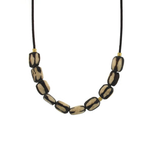 An African Batik Bead Necklace