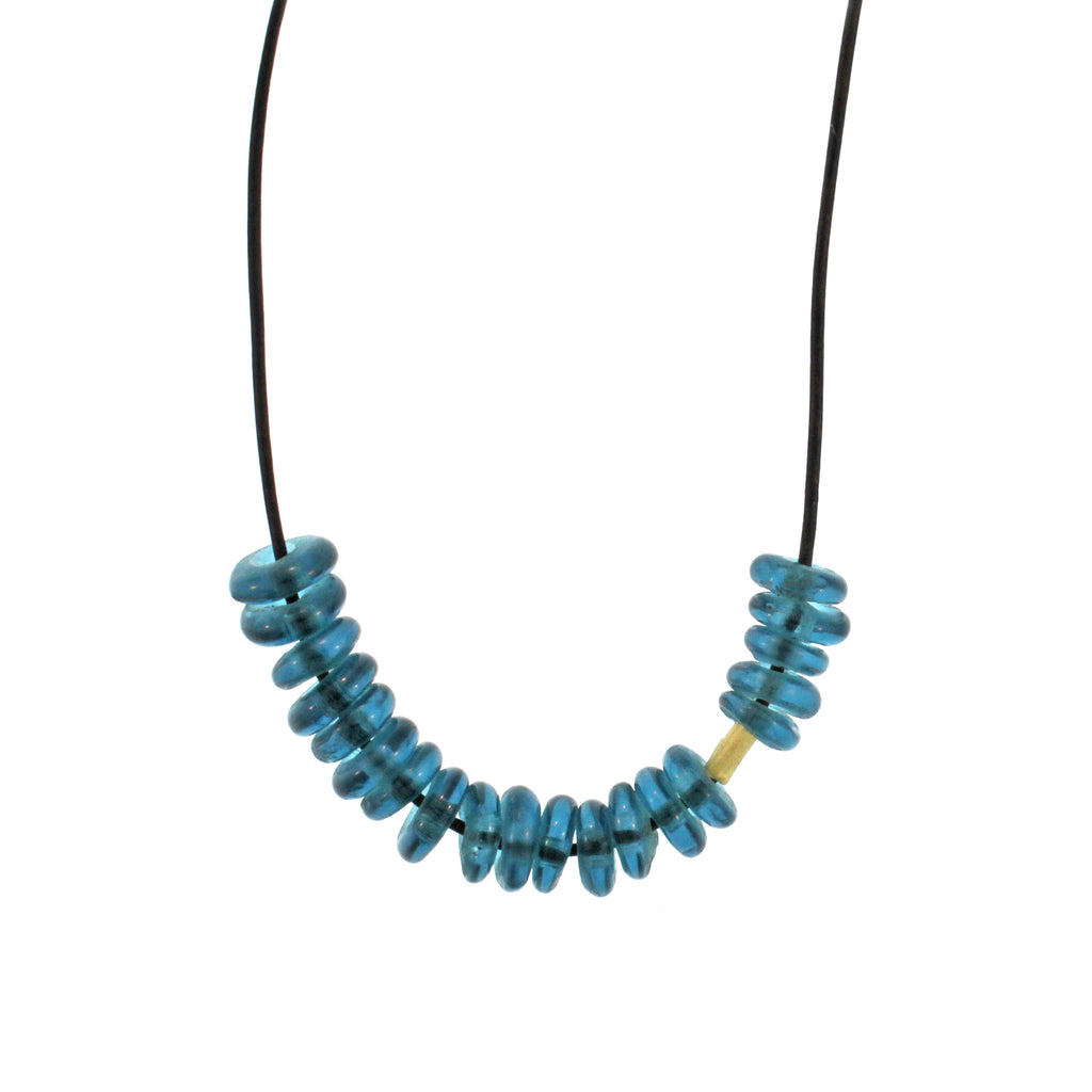 The African Marine Blue Glass Bead Necklace