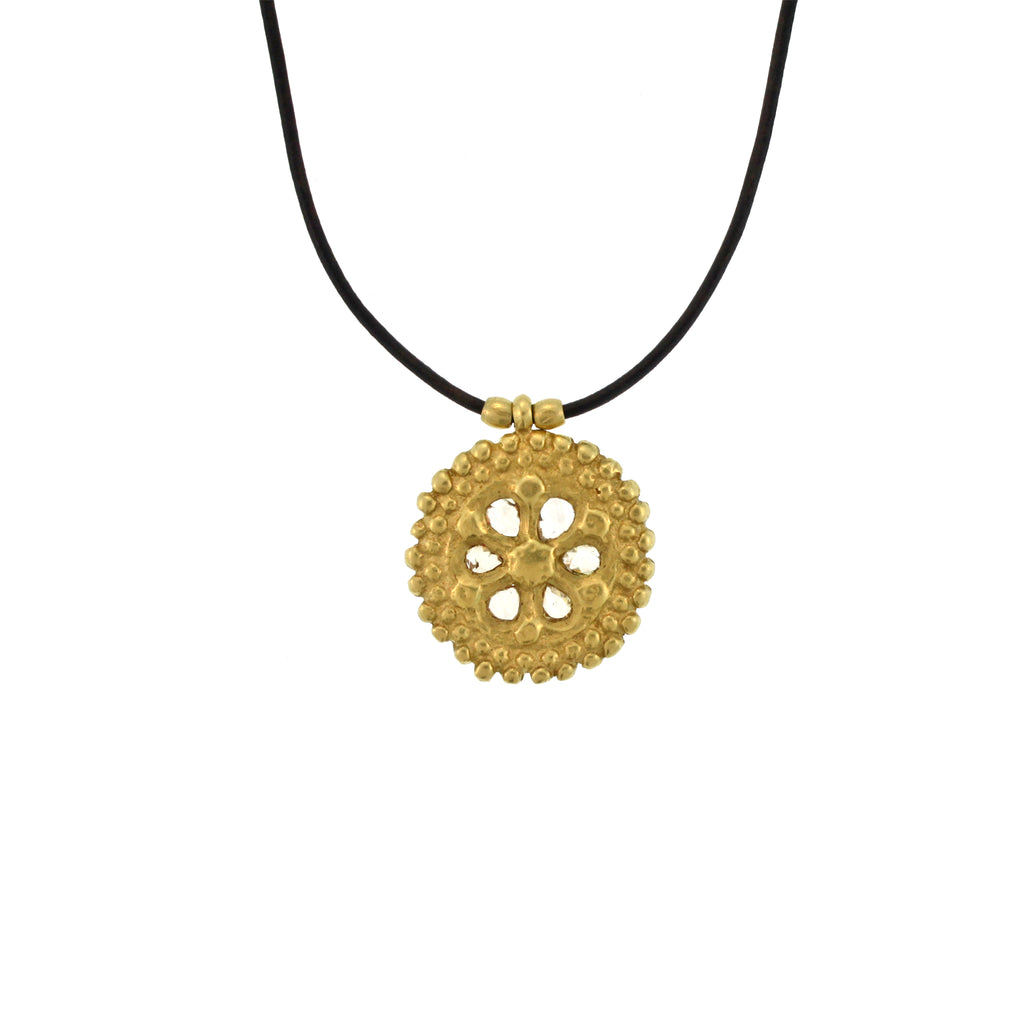 The Cognac Diamond Disc Pendant