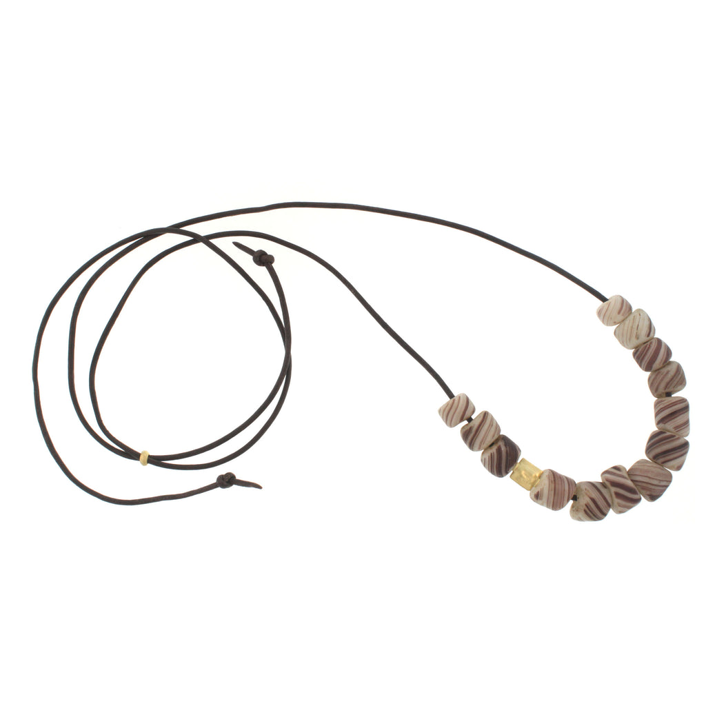 A Swirled Glass Bead Necklace