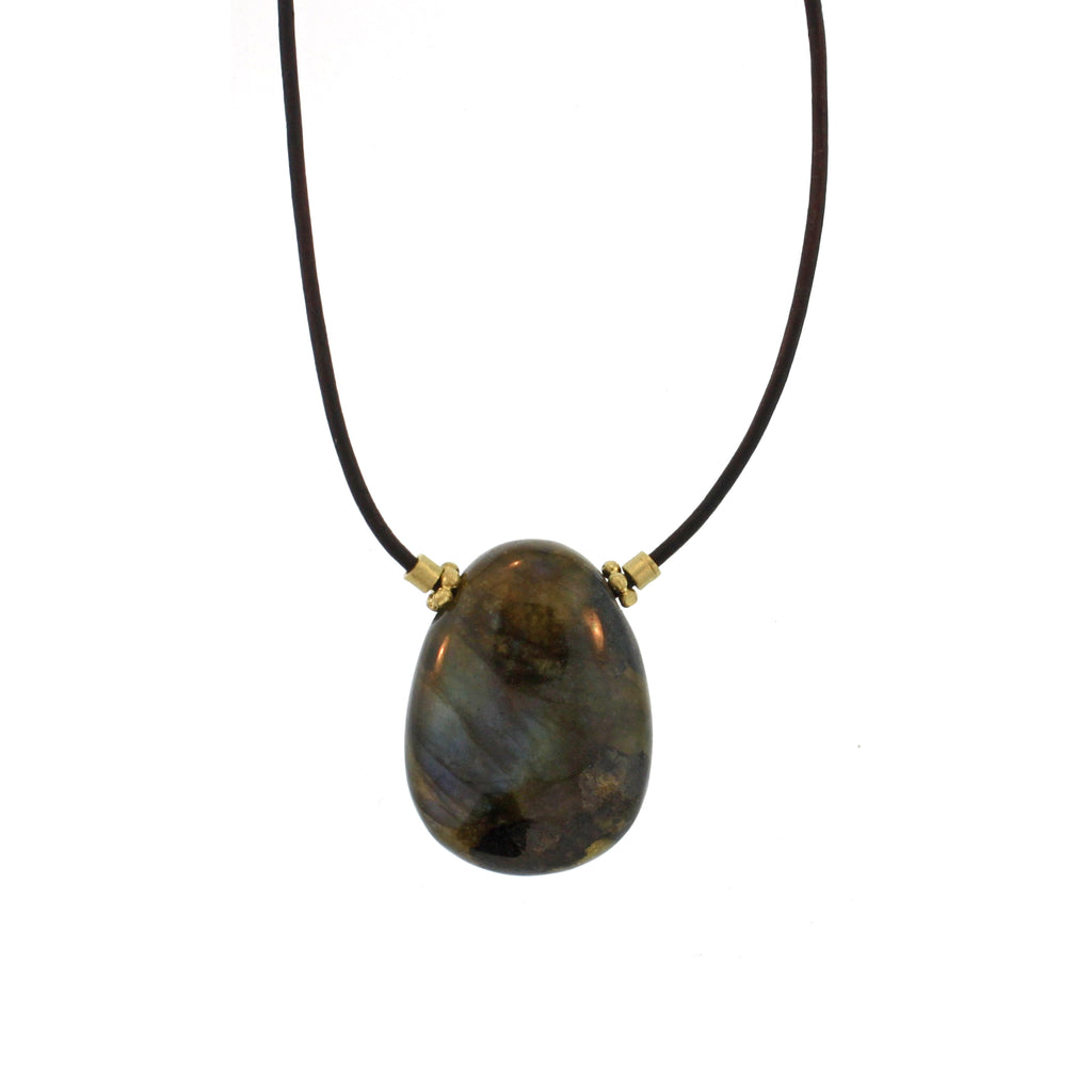 The Labradorite Egg Pendant