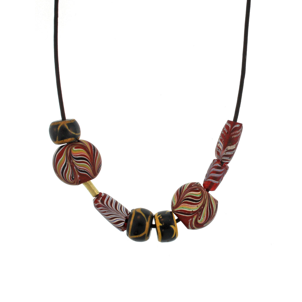 The Ancient Multi-shaped & Patterned Glass Bead Necklace