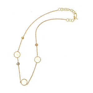 The Moonstone and Diamond Chain Necklace