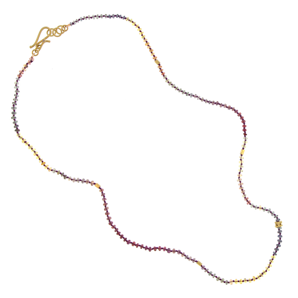 The Knotted Ombré Sapphire Bead Necklace