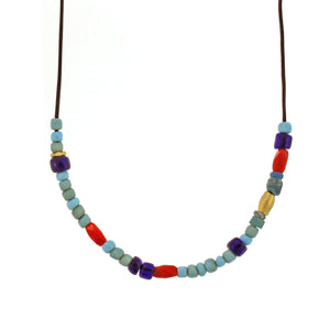 The Multicolored Glass Bead Necklace