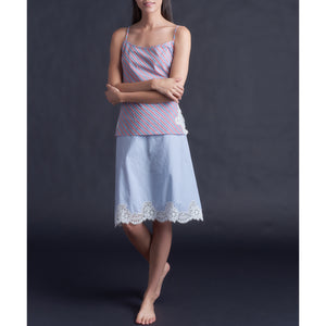Olwen Camisole in Italian Cotton Red Stripe