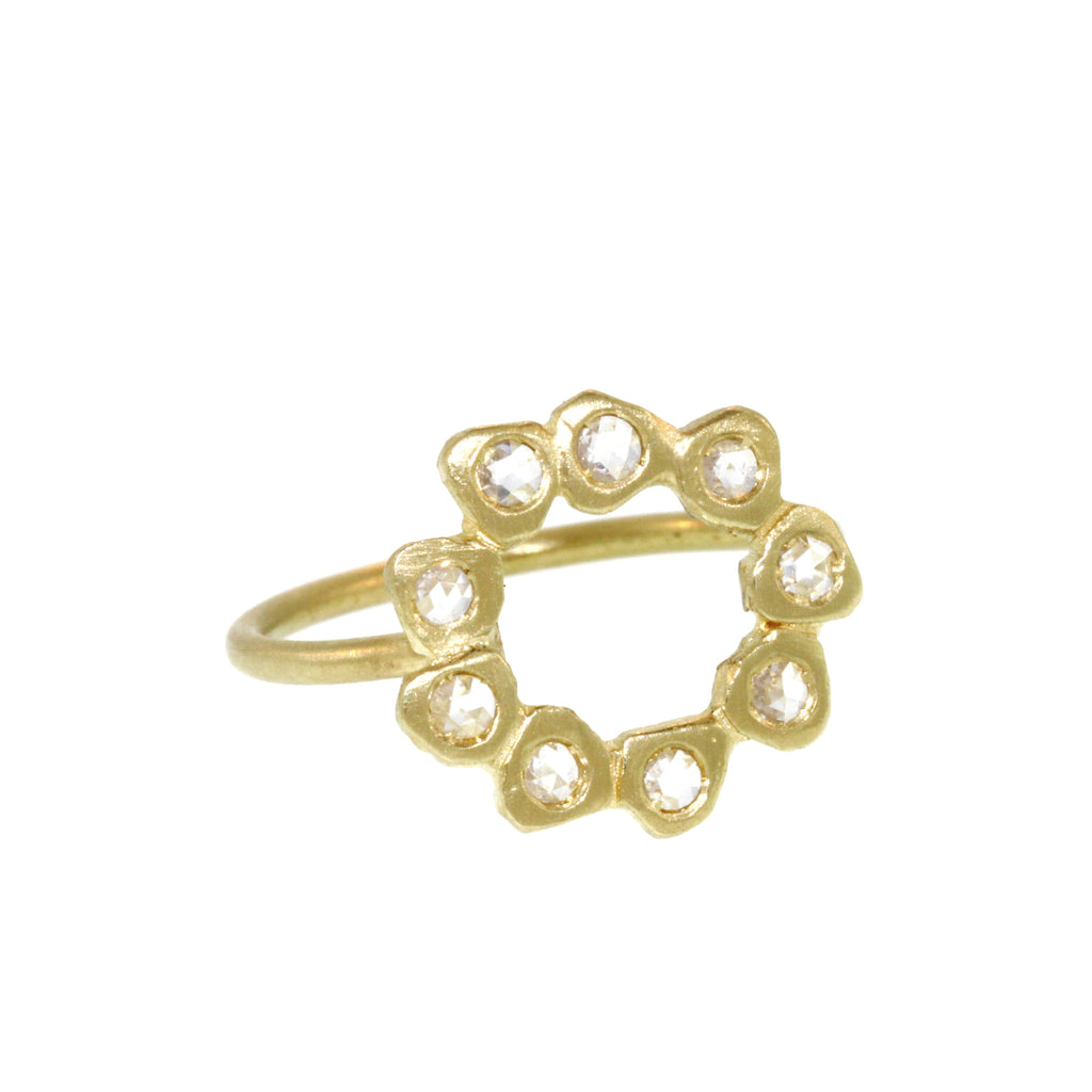 The Diamond Open Circle Ring