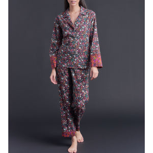 Annabel Pajama Top in Floral Liberty Print Cotton Tana Lawn