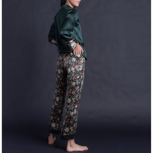 Annabel Pajama Pant in Tree of Life Silk Charmeuse