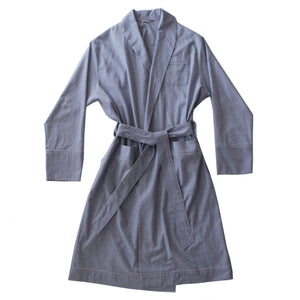 Janus Robe in Light Grey Italian Cotton Flanella