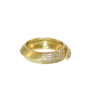 The Cognac Diamond Bent Band