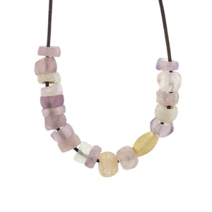 Violet Vintage Glass Bead Necklace