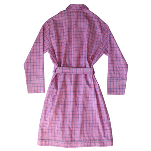 Janus Robe in Pink Check Italian Cotton