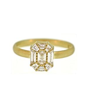 The Deconstructed Diamond Portrait Ring