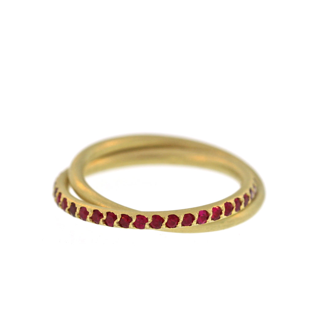 The Entwined Ruby and Gold Ring