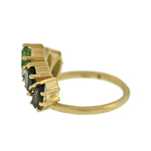 The Tourmaline Crown of Leaves Ring