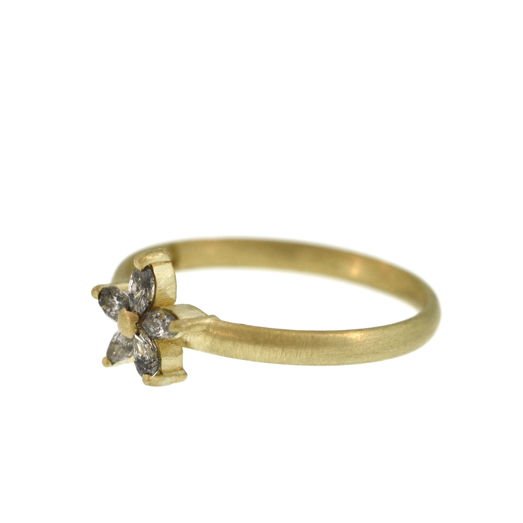 The Grey Diamond Starfish Ring