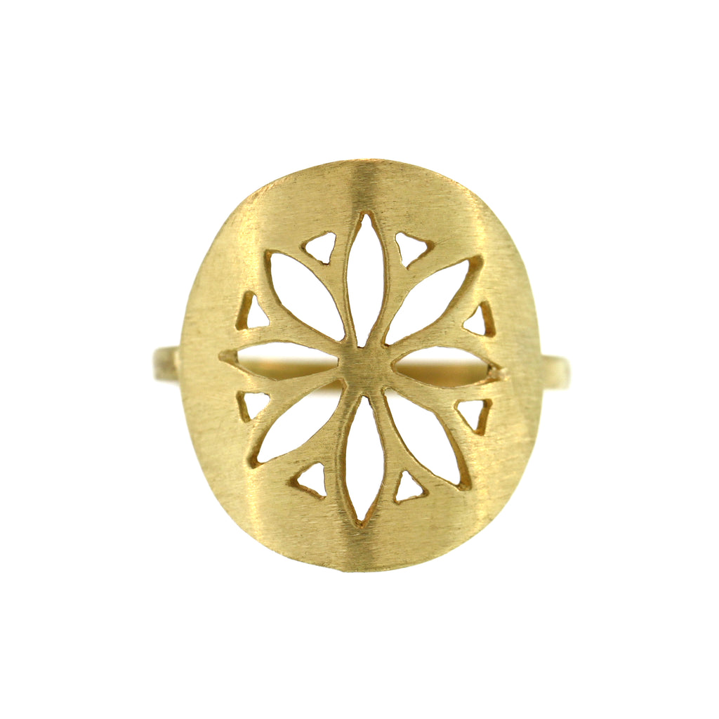 The Flower Medallion Ring