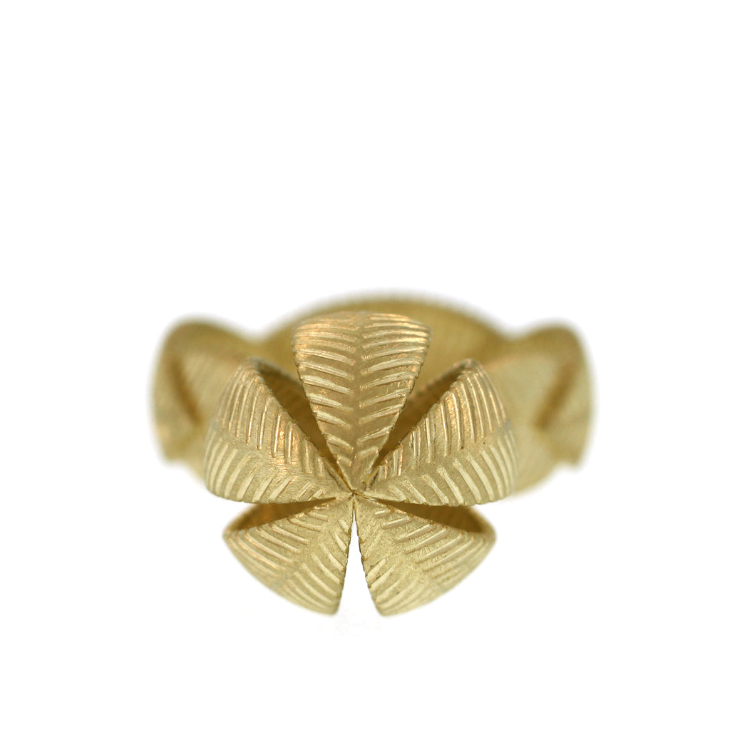 The Lotus Leaf Orb Ring