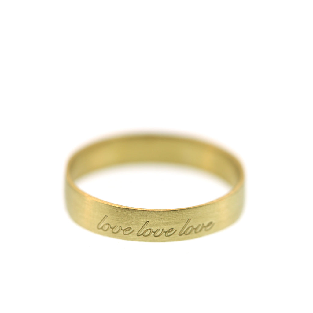 A Love, Love, Love Poesy Ring