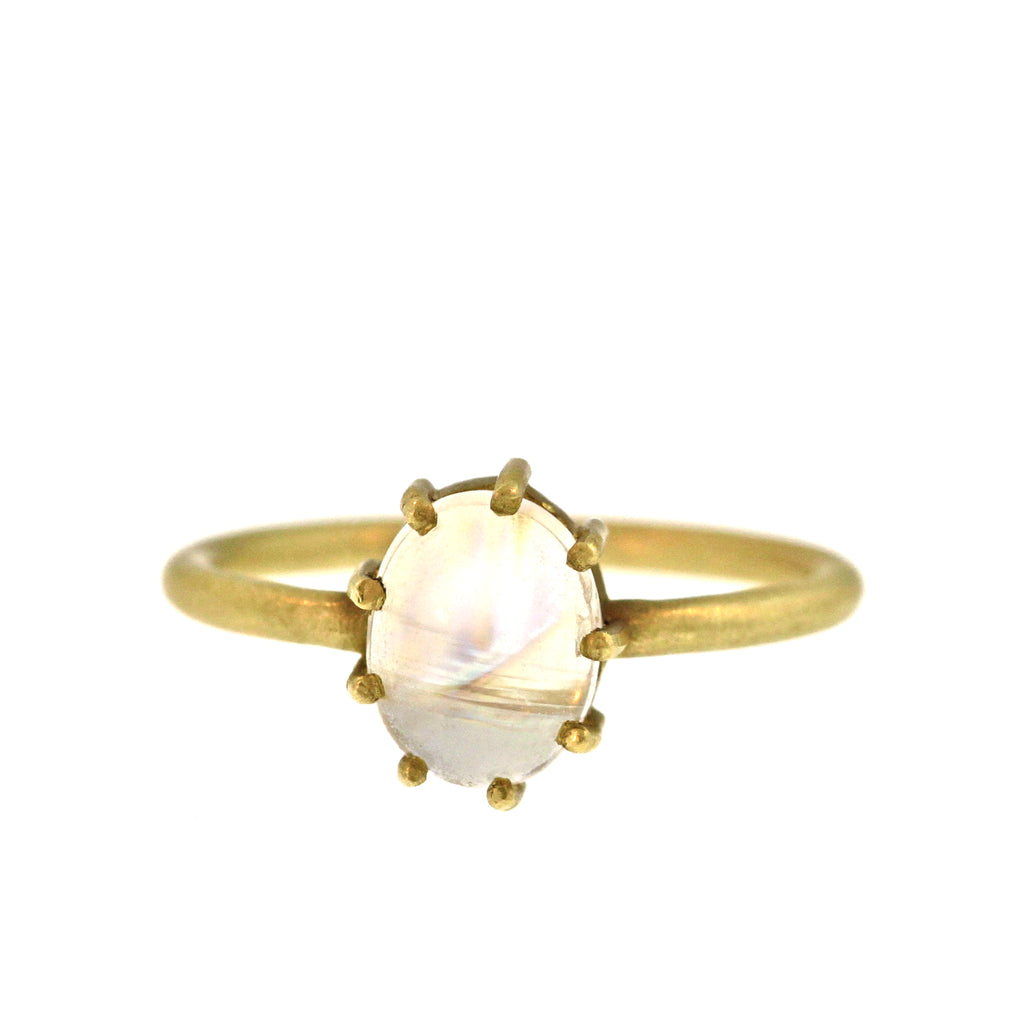 The Oval Moonstone Ring