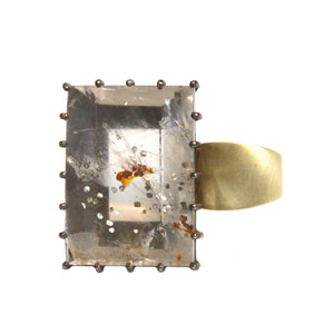 The Frosty Quartz Side Set Ring