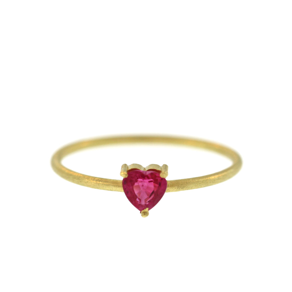 The Heart Shaped Ruby Ring