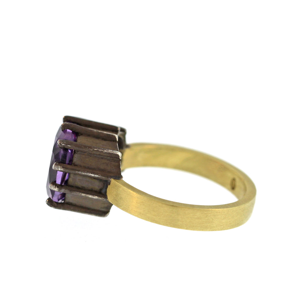 The Prong Set Amethyst Ring