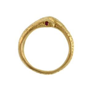 A Snake Ring with Ruby Eyes
