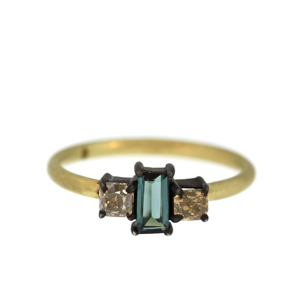 The Tourmaline + Cognac Diamond Ring