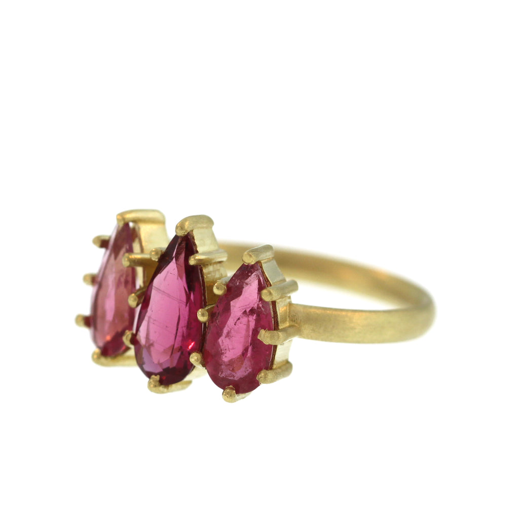 The Triple Pink Tourmaline Ring