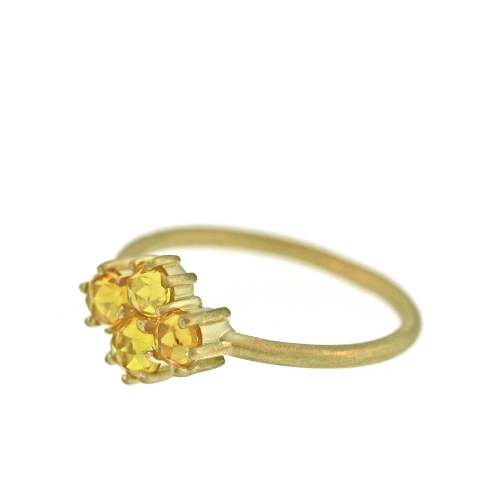 The Yellow Sapphire Quad Ring