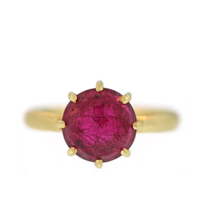 The Rose Cut Ruby Ring