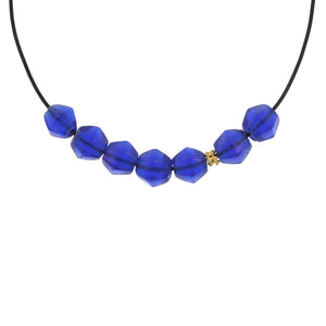 Royal Blue Vintage Glass Bead Necklace