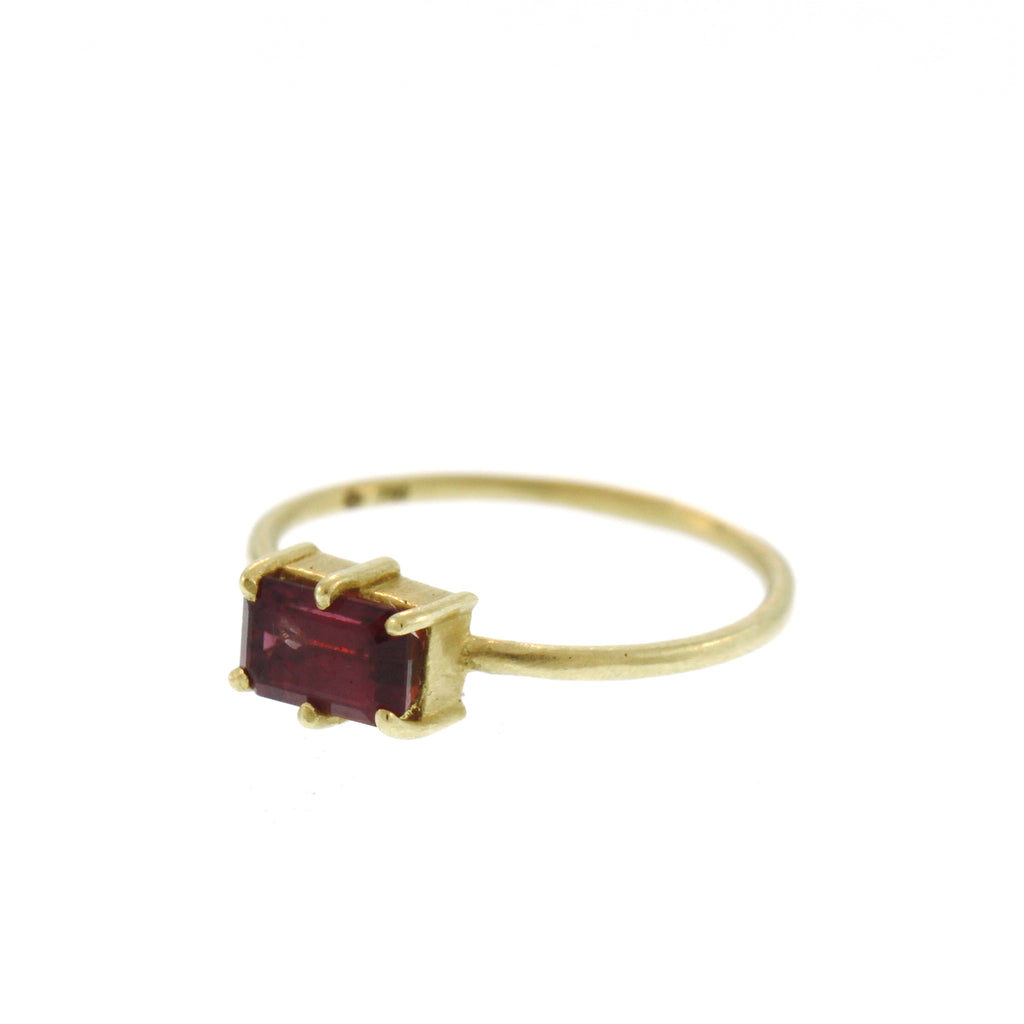The Cranberry Tourmaline Stacking Ring