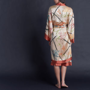 Special Edition Hand Painted Silk Charmeuse Selene Robe