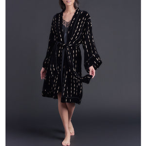 Burnout Silk Velvet Selene Robe