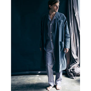 Janus Robe in Grey Italian Cotton Flanella