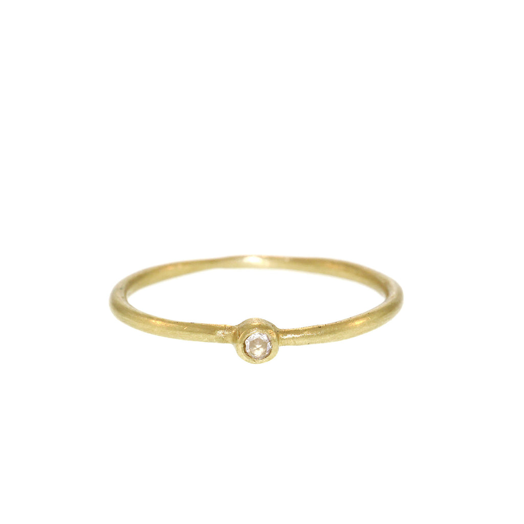 The Single Diamond Stacking Ring