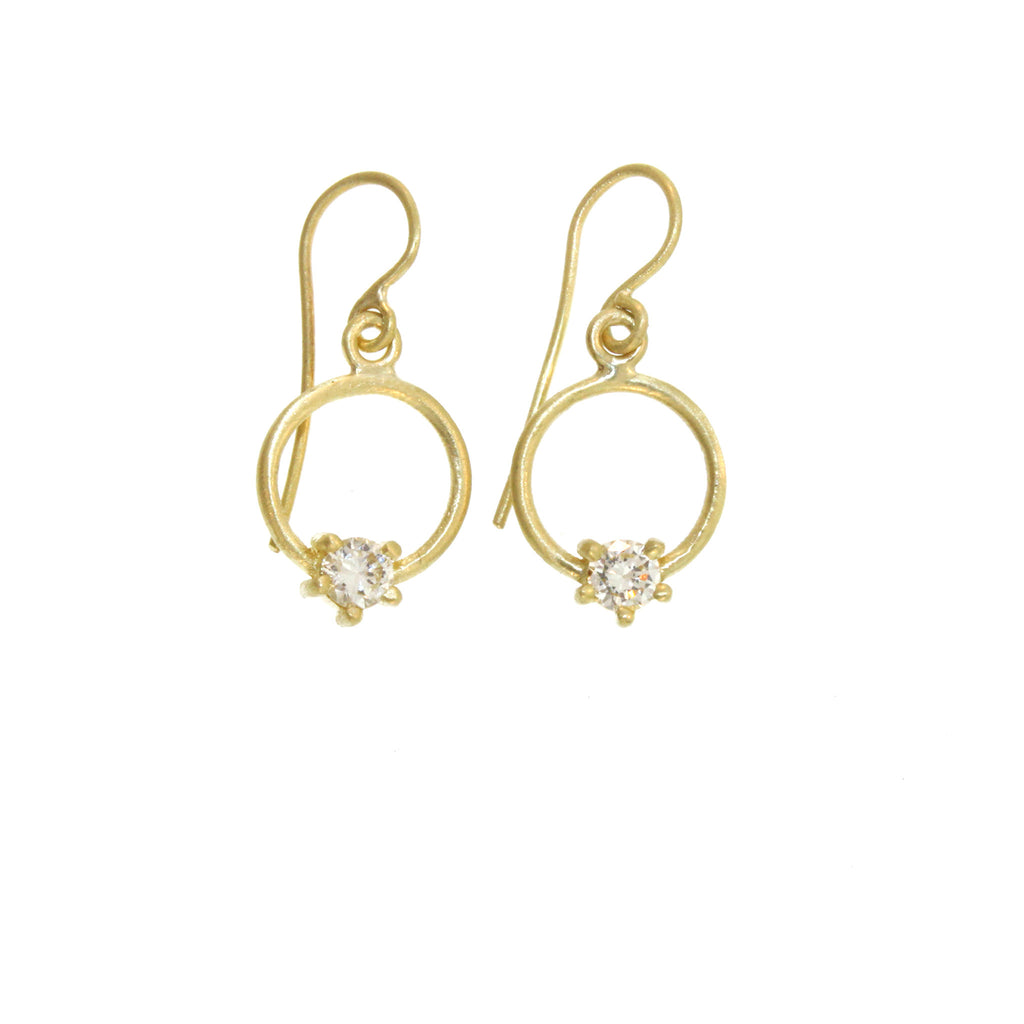 The Small Brilliant Diamond Loop Earring