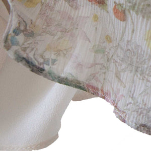 Antheia Slip in Oyster Wildflowers Liberty Print Silk Crinkle Chiffon